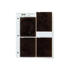 Archival Negative Pages Holds Four 4 x 5 Inches Negatives or Transparencies, Pack of 25 by Print File