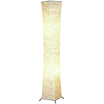 Floor Lamp, CHIPHY Dimmable Floor Lamps for Bedroom, 3 Levels 12W/2 LED Bulbs(2400 LM) and White Fabric Shade, Modern and Decorative Light for Living Room and Office as Christmas Gift, Present