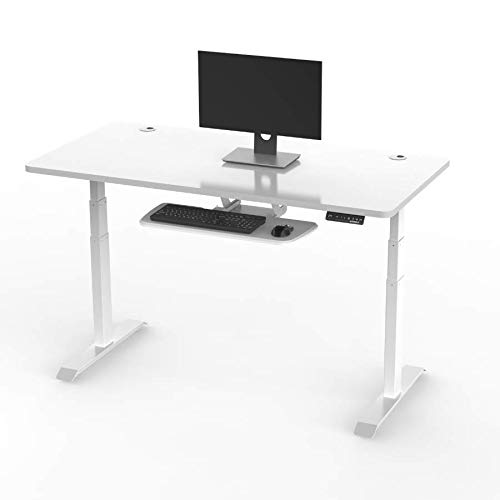 - EUREKA ERGONOMIC Electric Height Adjustable Standing Desk-Rectangular,Commercial Grade, 5 Years Limited Warranty