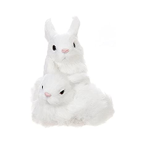Amazon.com: RAZ – Figura decorativa de conejo de Pascua – 5 ...