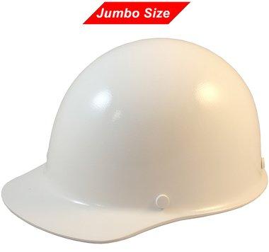 MSA Skullguard Cap Style Jumbo Size Hard Hat with Fas-Trac 3 Ratchet Suspension Custom White Color