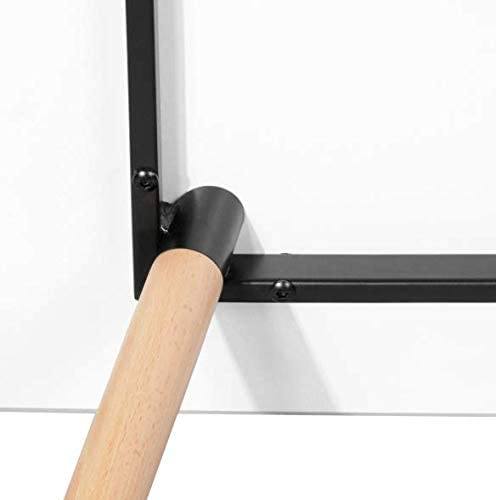 Blanco Mate Mesa de Comedor o Cocina con Patas de Madera de Haya DORAFAIR Mesa Auxiliar Cuadrada 80 cm