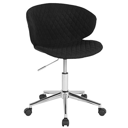 - ERGONOMIC HOME Cambridge Home and Office UPHOLSTERED MID-Back Chair in Black Fabric