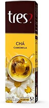Cápsula de Chá, Camomila, 10 Unidades, Tres, 3 Corações
