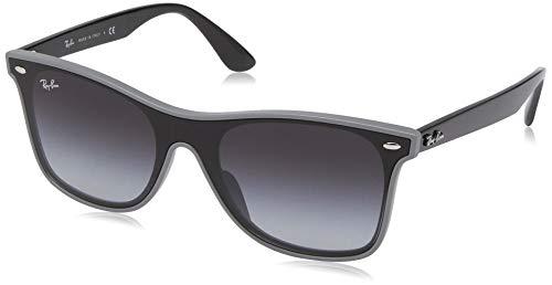 Ray-Ban RB4440NF Blaze Wayfarer Sunglasses, Grey Demishiny/Grey Gradient, 44 mm (Ray Ban Wayfarer Gradient Grey)
