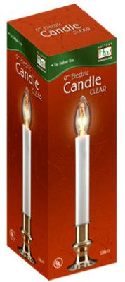 Noma Holiday Wonderland 1519-88 9'' Clear Bulb Electric Window Candles - Quantity 36