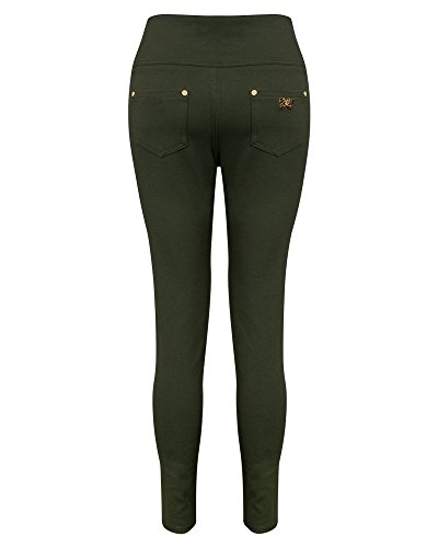 Unique Kaki Taille Femme Shelikes Jeans Rwx1at6