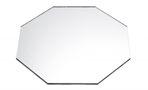 Mirror Acrylic Plexiglass Octagon - Eight-Sided Tray, Diameter 2