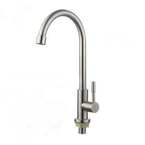 Retro Deluxe Fauceting 1PC Stainless Steel Faucets for Home Kitchen Ceramic Plate Spool Single Holder Single Hole Decked Mounted Basin Taps Fixture,A