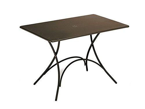 Emu 309034100 Pigalle Klapptisch 120 x 76 cm, pulverbeschichteter Stahl, indisch braun