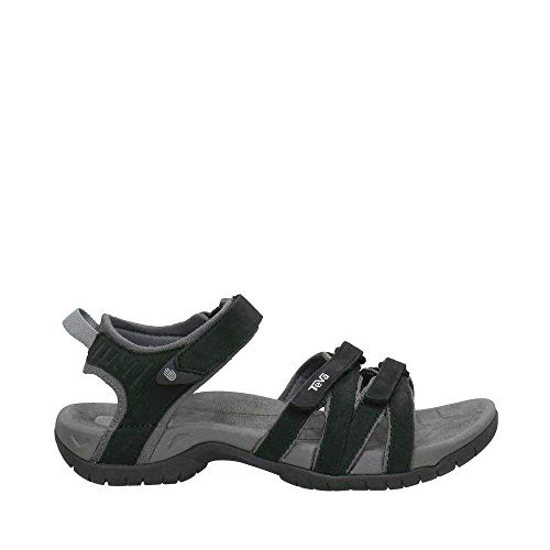 Teva Women's Tirra Leather Sandal,Black,9 M ()
