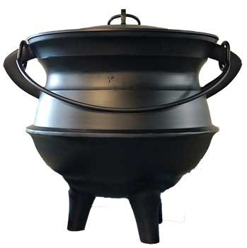 Wood Burning Fireplace Accessories Cauldrons Plain Aluminum with Lid and Handle X-Large 18'' LIMITED EDITION