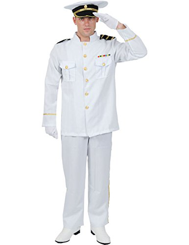 Naval Captain Costume (Orion Costumes Mens White Navy Captain Naval Officer Sea Sailor Standard)