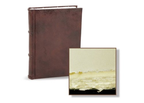 Italian Leather Bound Journal / Guest Book featuring handmade Amalfi pages 11x15 | Epica by Epica