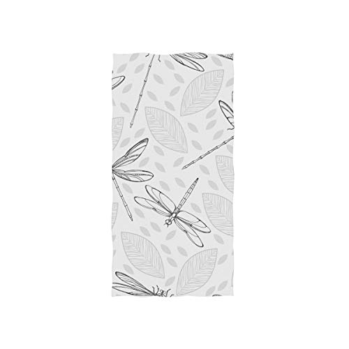 senya Dragonflies and Leaves Hand Towel Ultra Soft Luxury Towels for Bathroom 30