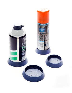 (Gripponz - Prevents Shaving Cream Can Rust and Gunk Rings - Pack of 4, Blue)
