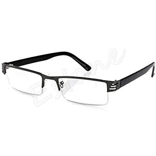 chuwa Reading Glasses Women Men Blue Light Blocking Glasses Blue Film Resin Eye Glasses Diopter +1.00 1.50 2.00 2.50 3.00 3.50 4.00 (Big Fashion Lesebrille)