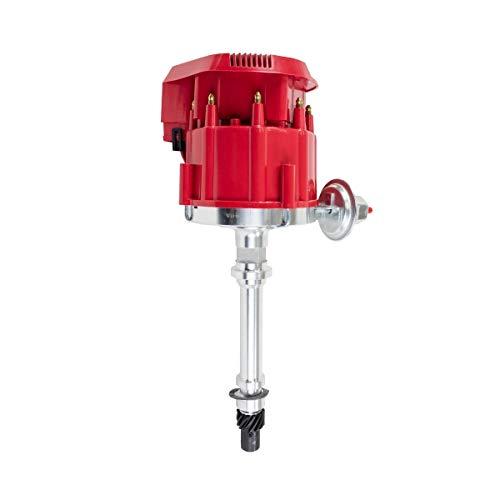 A-Team Performance 65K Coil, 7500 RPM HEI Distributor Compatible With Chevrolet CHEVY/GM GMC Small Block/Big Block SBC/BBC 262 265 267 283 302 305 307 327 350 383 400 SBC &396 427 454 BBC (SUPER CAP)