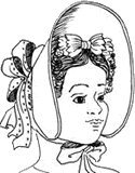 Victorian Style Hats, Bonnets, Caps, Patterns 1834-1840 Fashionable Bonnet Pattern $15.95 AT vintagedancer.com