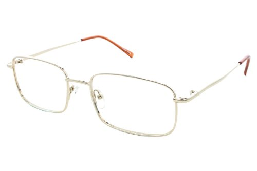 New Fission 002 Eyeglasses|Clear Lens|Metal Frame|Size:55-18-140|Prescription Rx Eyewear (Gold) (90er Brillen Frames)