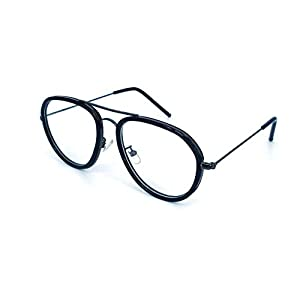 GO EYEWEAR Blueray Block Uv Protected Computer Glasses In Black Aviator Frame (Unisex)