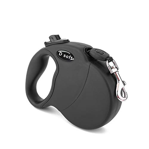 D soft Retractable Dog Leash, comfortable handle, 16 ft up to 110 pounds ()