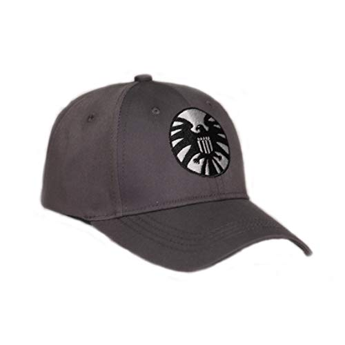 356ad3a25 Carol Danvers Cosplay Hat Captain Marvel Shield Cap Gray Cotton Baseball Hat