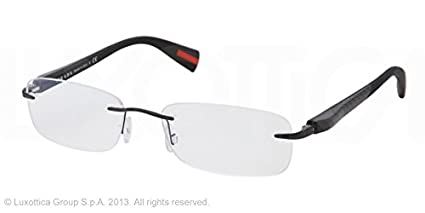 dae72da40b5d Image Unavailable. Image not available for. Colour  Prada Sport Glasses  Frames PS 53DV 1BO1O1 Black ...