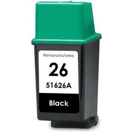 HP 26 (51626A) Black Remanufactured Inkjet/Ink Cartridge NH-R51626 (51626a 26 Cartridge Ink Black)