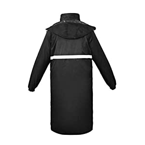 Qivor Waterproof clothing Long Reflective Raincoat Outdoor Waterproof Poncho (yellow/black/) Men's snow raincoat (Color…