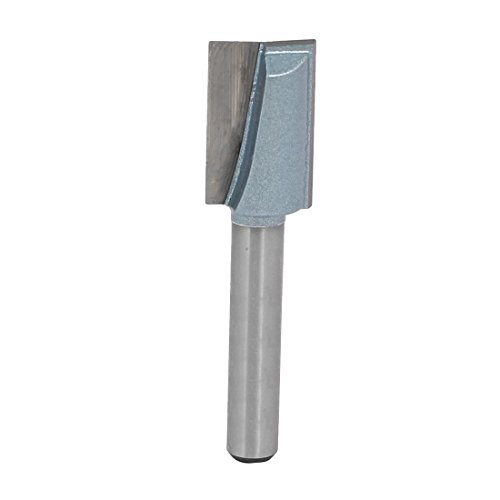 uxcell 1/4-Inch Shank 1/2-Inch Cutting Dia 2-Flute Carbide Tipped Cleaning Bottom Router Bit