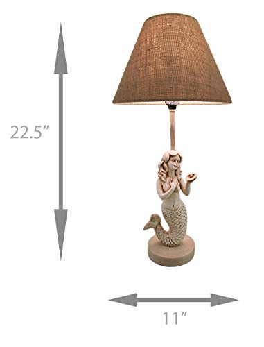 "22-1/2"" Mermaid Table Lamp W/Shade"