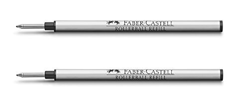 Graf Von Faber Castell Rollerball Pen Refill Black (Pack of 2)