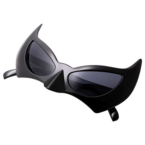 [grinderPUNCH Bat Costume Glasses for Men and Women Black] (Cute Female Nerd Costumes)