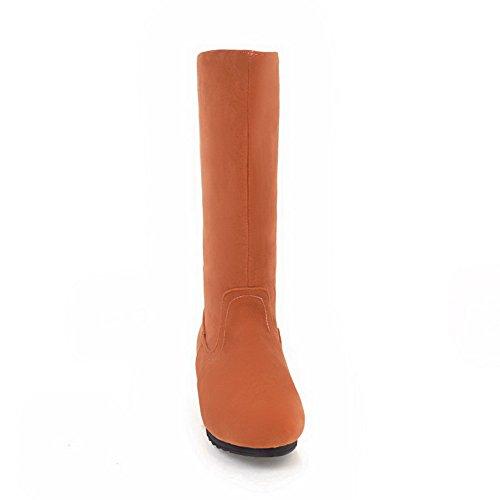 Balamasa Vrouwen Casual Platform Antislip Suède Laarzen Abl10230 Oranje