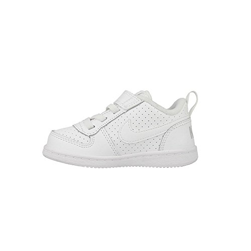 Nike Court Borough Low (Psv) - Zapatillas de baloncesto Niños Blanco