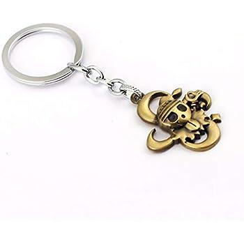 Amazon.com : Men car Key Chain ONE Piece Skull Keychain Car ...