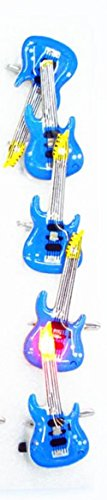 Halloween Flashing Pin (5 PC LED Flashing Light Up Guitar Pins Brooch Party Favors by Mammoth Sales (Blue))