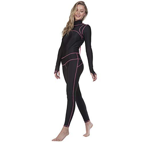 tutublue Women's Long Swimsuit One-Piece Bathing Suit Full Body UV Sun Protection (X-Small, Black Cat) ()