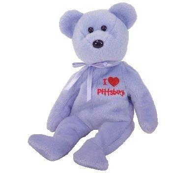 Pittsburgh Steelers Teddy Bear - TY Beanie Baby - PITTSBURGH the Bear (I Love Pittsburgh - Show Exclusive)