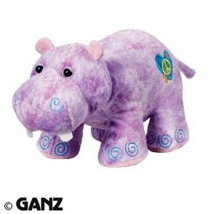 Webkinz Hippie Hippo + Webkinz Bookmark - New with Sealed Tag and Unused [Toy]