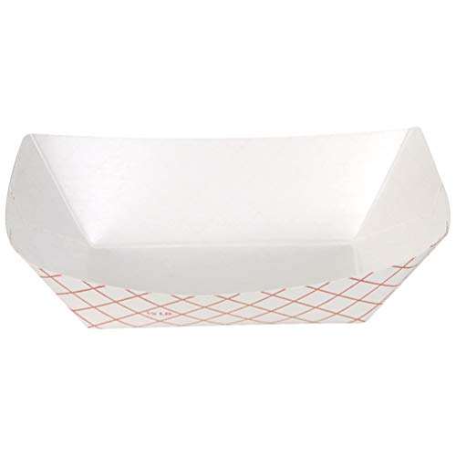 Dixie .5 Lb Polycoated Paper Food Tray by GP PRO (Georgia-Pacific), Kant Leek, Red Plaid, RP50, 1,000 Count (250 Trays Per Pack, 4 Packs Per Case)