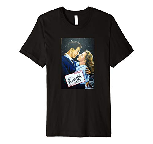 It's a Wonderful Life Movie Poster Public Domain Old Art  Premium T-Shirt