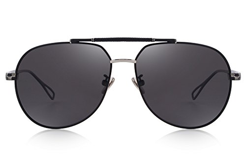 Glasses S8455 Sun men Black Polarized for MERRYS Mirrored Lens Sunglasses Pilot xOUqwF8R