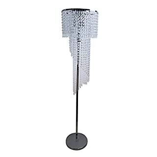 Hsyile Lighting KU300160 Modern Style Floor Lamp Chrome Finish and Plentiful Crystals,3 Lights