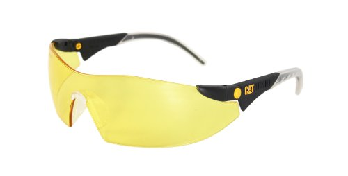 Caterpillar CSA-DOZER-112-AF Filter Category 2-1.2 Yellow Lens Safety Glasses, Small