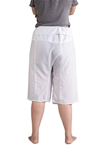 Pantaloni Unita Bianca Donna Pescatore Tinta Capri Thai Rayon Lofbaz 8FgqA0