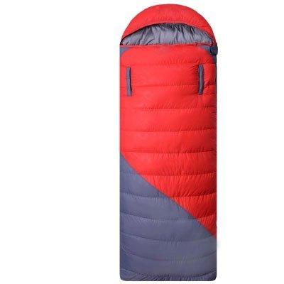 Four SeasonsアウトドアSleepingバッグ大人用熱秋冬封筒フード付き旅行キャンプ防水太いSleepingバッグ B01LXOGIUV  レッド 1800G