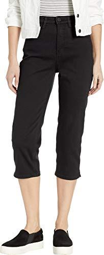 FDJ French Dressing Jeans Women's Onyx Denim Suzanne Capris in Black Black 6 21