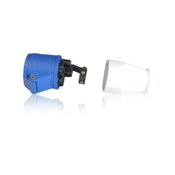 16A 3 Pin Female Socket for Tent/Motorhome/Caravan Hookup IEC 60309 309 IP449 2P+E, 6h